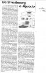 Article 'De Strasbourg à...'Oct.'840001