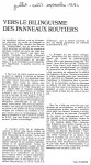Article'Vers le bilanguisme...'Juillet'840001