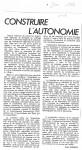 Article sur 'Construire...'Juin'860001