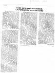 Article sur 'Face aux Imp...' Nov.'890001