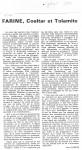 Article sur 'Farine, Coaltar..'Avril'880001