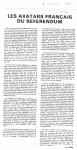 Article sur 'Les avatars Fr...'Nov.'880001