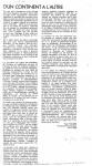 Article sur'D'un continent...'Mai'860001