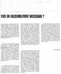 Article sur'Vers un rassemblement...'Juin'850001